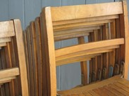 Image 3 - Vintage Wooden & Iron Reclaimed Stacking Chairs