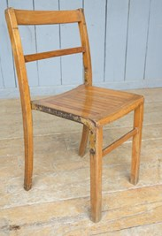 Image 5 - Vintage Wooden & Iron Reclaimed Stacking Chairs