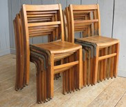 Showing all 12 vintage stacking chairs