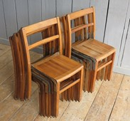 Image 3 - Wooden & Iron Reclaimed Stacking Chairs