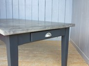 Kitchen Natural Zinc Tables Are Made Bespoke Here At UKAA