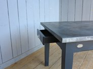 Natural Zinc Kitchen Tables are Made To Order Here At UKAA