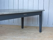 Image 3 - Natural Antiqued Zinc Topped Table with Drawers