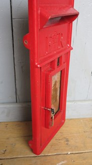 Image 4 - Cast Iron Royal Mail Red Post Office ER Post Box Front