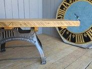 Image 2 - Reclaimed Pine Table with Antique Cast Iron Painted Base