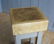 Butchers Block on a painted base are For Sale At UKAA