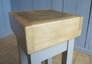 Small antique original butchers block for sale at ukaa