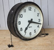 Wall hanging double sided clock