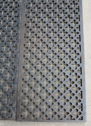 Solid Cast Iron Rectangular Gothic Floor Grilles Or Grids  - Available To Buy At UKAA