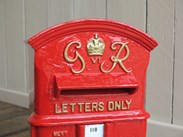 Antique Post Boxes available to buy at UK Architectural Antiques in Cannock Wood