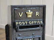 Original Wall Mounted Cast Iron VR Post Letter Box