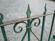 Image 4 - Original Victorian Wall Top Wrought Iron Railings