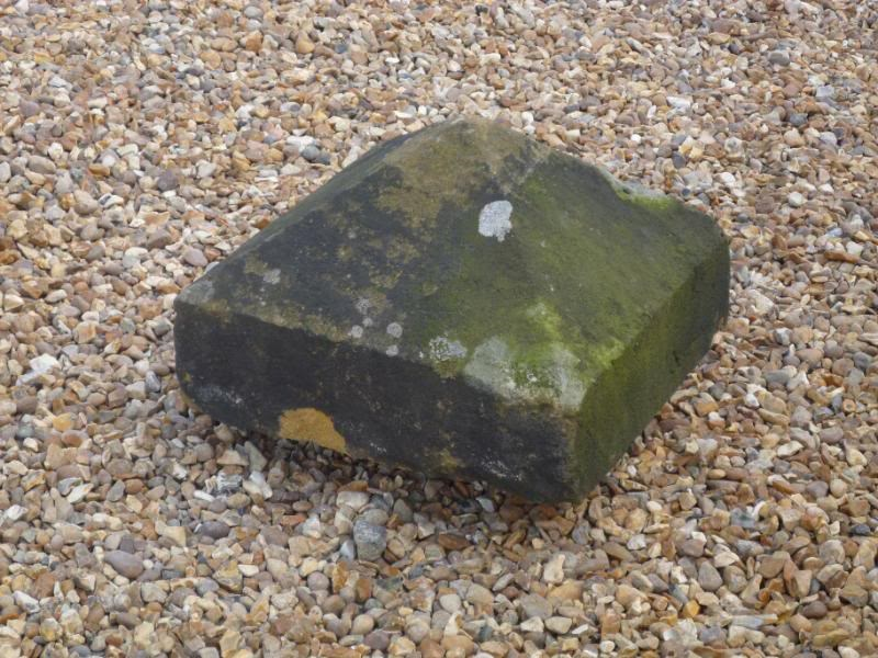 "Salvaged Antique Stone Pier Capping 16 3/4"" x 16 1/2"" x 11 1/2"""