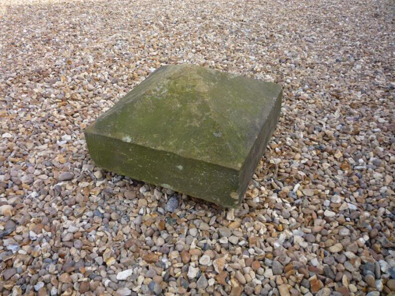 "Salvaged Antique Stone Pier Capping 17"" x 17"" x 10"""