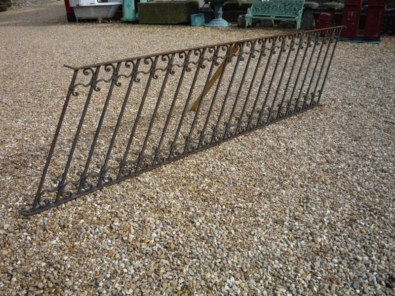 Antique reclaimed wrought iron staircase railings