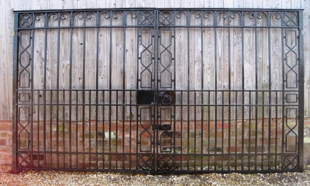 Salvaged Antique Cast and Wrought Iron Driveway Gates
