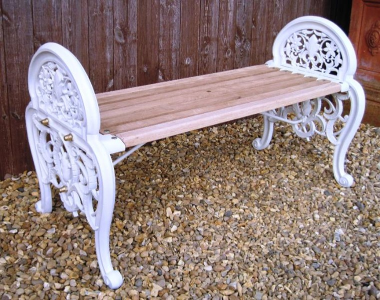 Very Rare Original Moresque Pattern Coalbrookdale Garden Bench