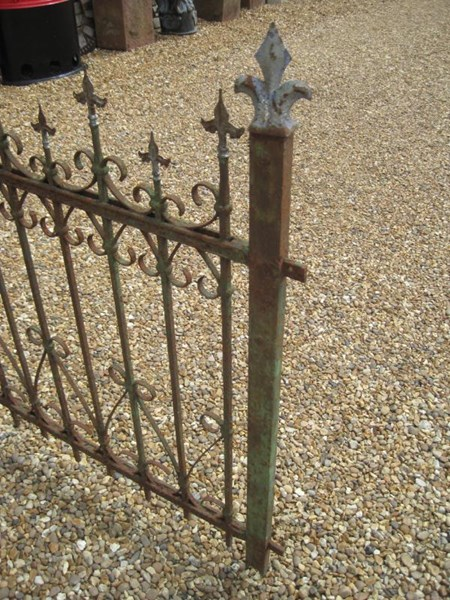 Run of Antique Reclaimed Wrought & Cast Iron Railings