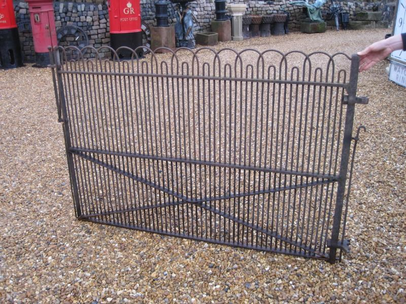 Antique Victorian Wrought Iron Single Estate Gate