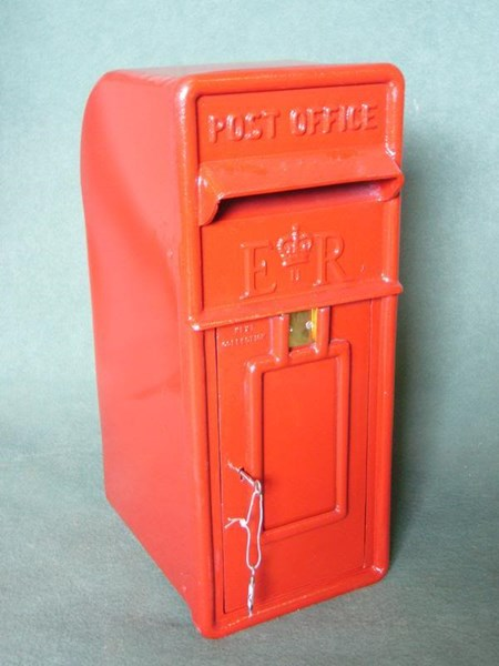 Old Royal Mail Antique Cast Iron Pole or Post Mounted Post Boxes