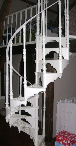 Reclaimed Cast Iron Spiral Staircase