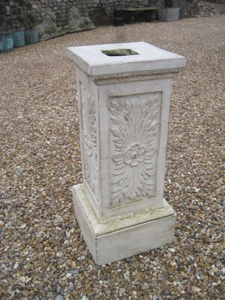 Edwardian Antique Teracotta Plinth