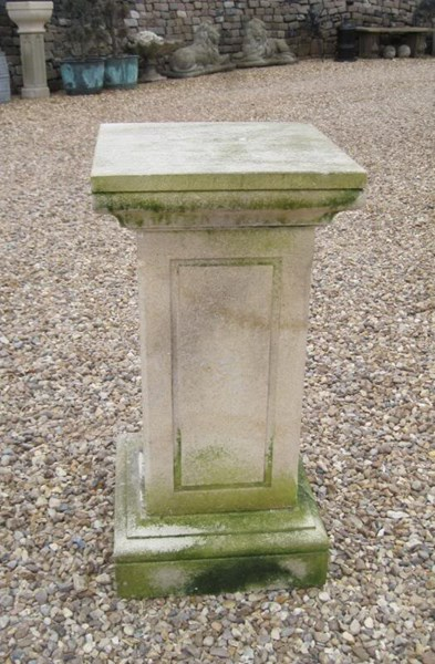 Antique Limestone Plinth or Pedestal