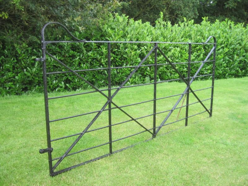 Antique Reclaimed Wrought Iron Estate Gate