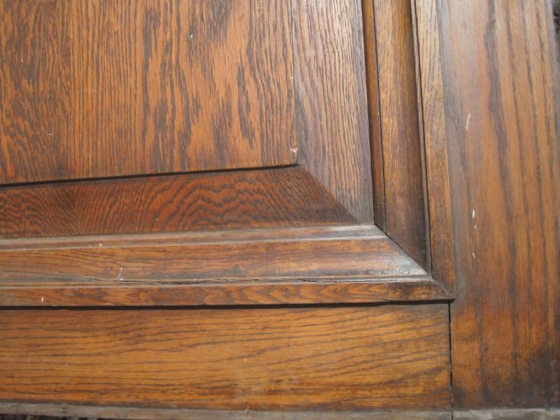 Large Quantity of Tall Antique Oak Wall Panelling
