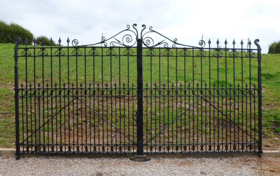 Pair of Excellent Large Antique Reclaimed Gates