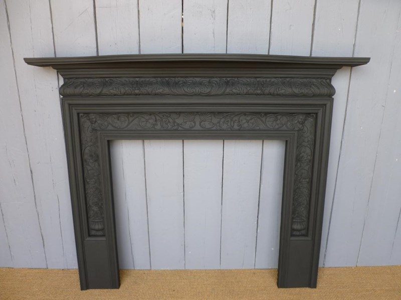 Antique Reclaimed Coalbrookdale Cast Iron Fire Surround - available to buy from UKAA