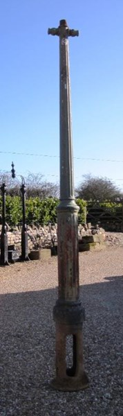 Antique Cast Iron Gas Lamp Post