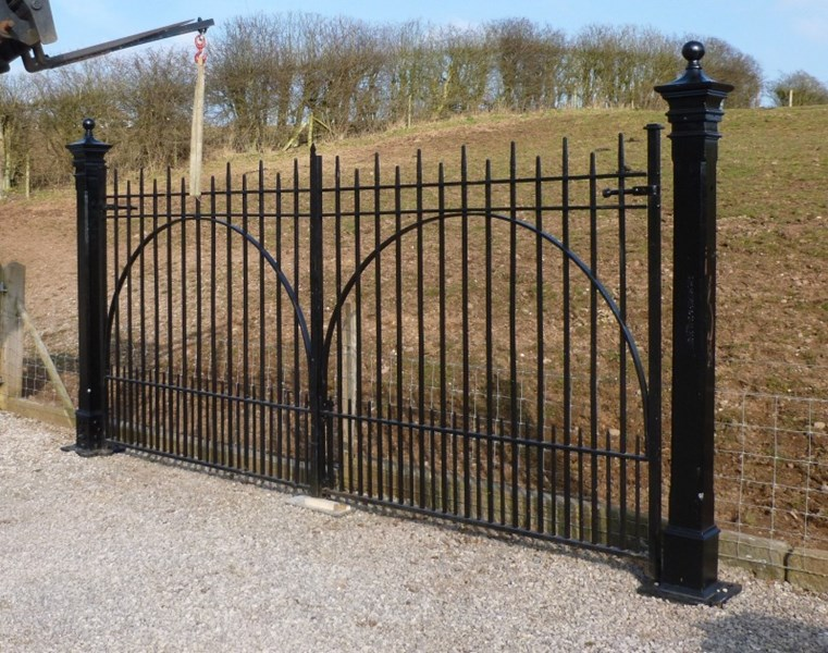 Pair of Antique Reclaimed Gates<br>Twickenham Rugby Ground