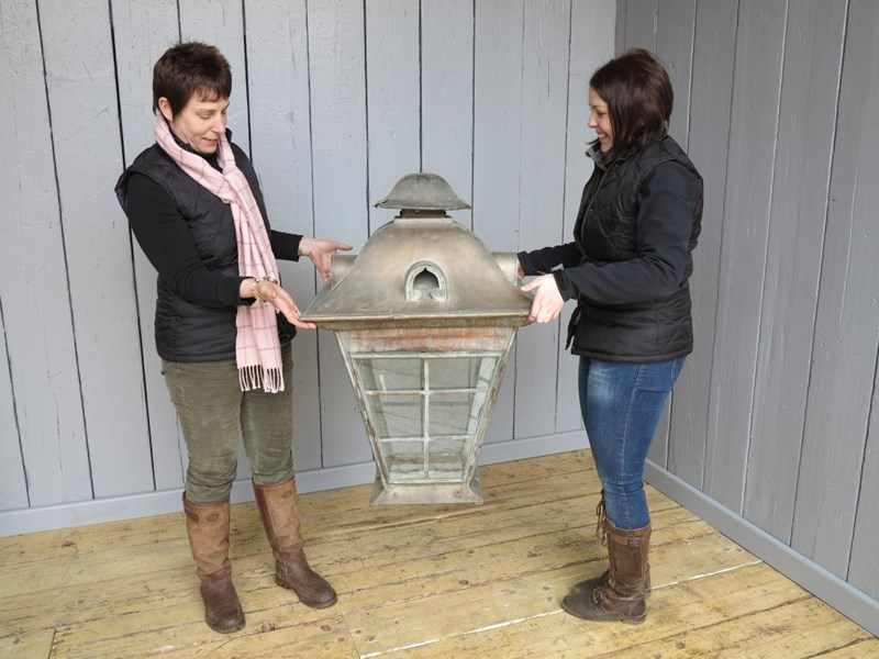 Primary Image - Very Large Copper Victorian Hanging Lantern