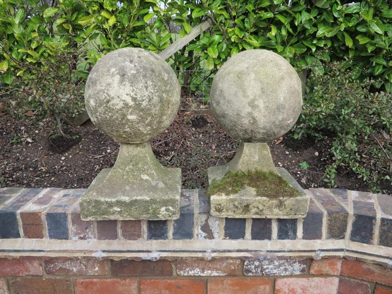 Primary Image - Pair of Ball Pier Cappings made from Reconstituted Stone