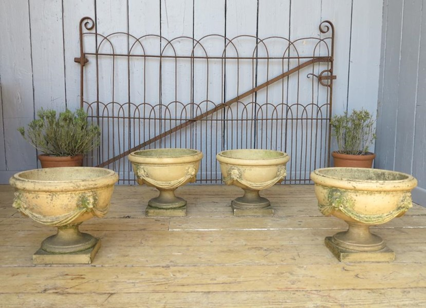Primary Image - Set of 4 Victorian Terracotta Planters