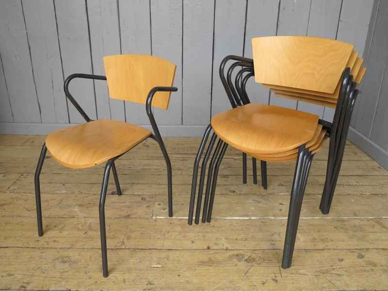 Primary Image - Vintage Tubular Steel Stacking Chairs
