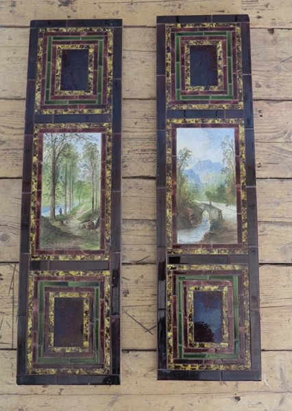 Primary Image - Hand Painted Victorian Wall Tile Panels