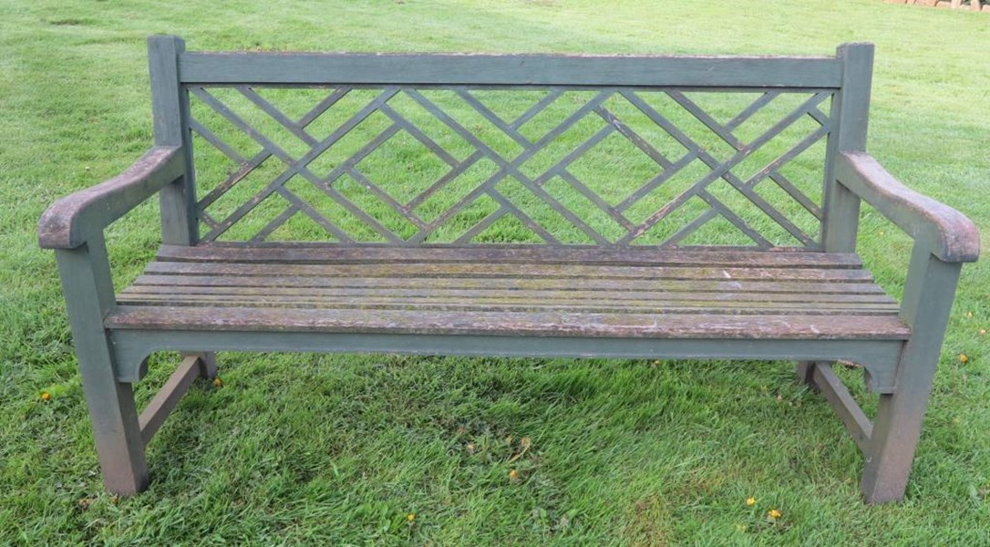 Primary Image - Vintage Chinoiserie Garden Bench