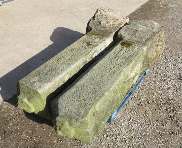 Primary Image - Pair of Antique Stone Gate Posts