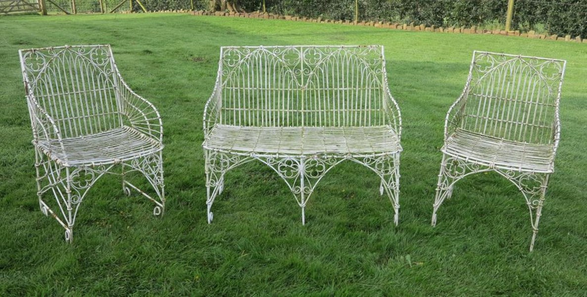 Primary Image - Set of 3 Gothic Wirework Benches