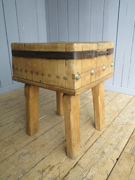 Primary Image - Antique Butchers Kitchen Chopping Block
