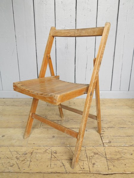 Primary Image - Antique Folding Slatted Chairs