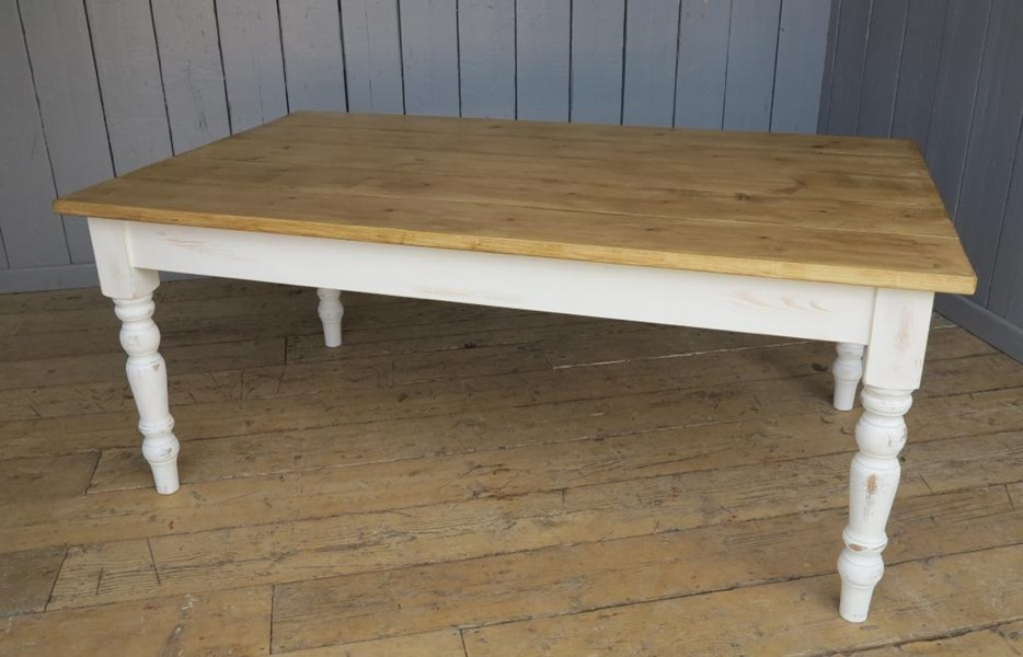 Primary Image - Reclaimed Plank Top Farmhouse Table - Ready for Dispatch