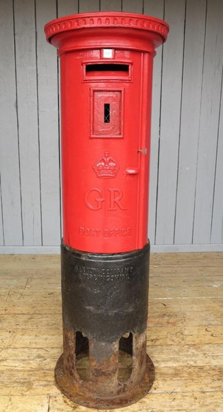 Original Cast Iron George Pillar Box - Painted in your choice of Colour