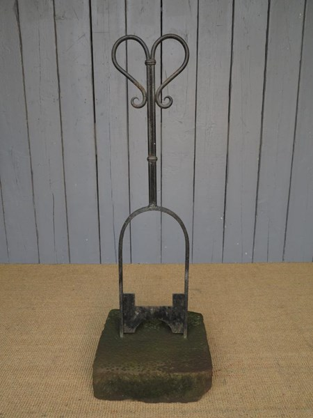 Primary Image - Wrought Iron Boot Scraper on Stone Base