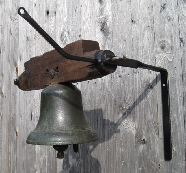 Primary Image - Wall Mounted Large Antique Bronze Calling Bell