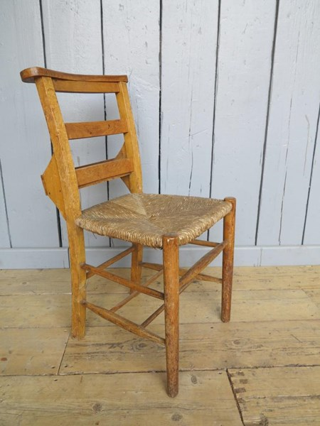 Primary Image - Rush Seated Antique Church Chairs With Book Holders