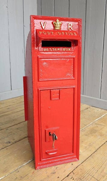 Primary Image - Very Rare VR Wall Mounted Post Box