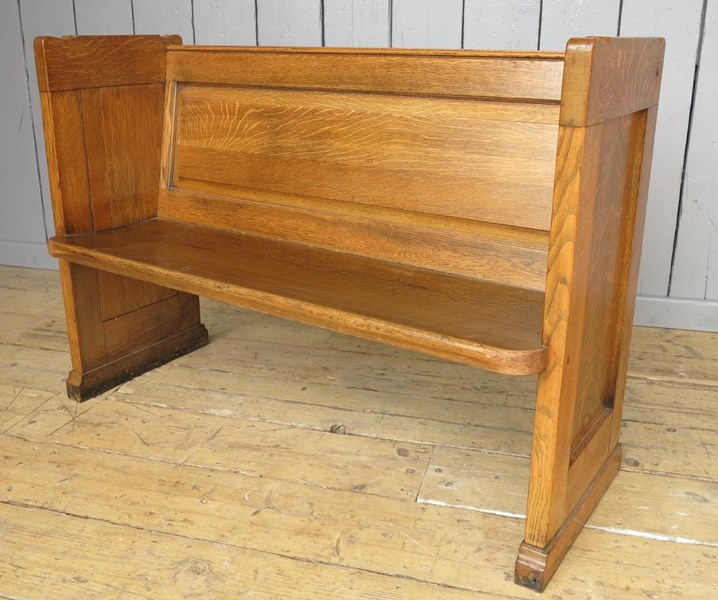 Primary Image - Antique Church Solid Oak Pew